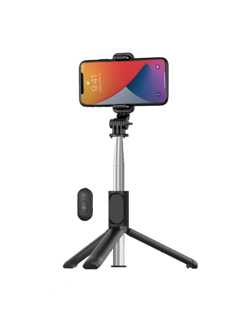 Extendable Selfie Stick with Wireless Remote and Tripod Stand