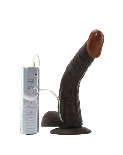 Afro American Whoppers 8″ Vibrating Strap-On